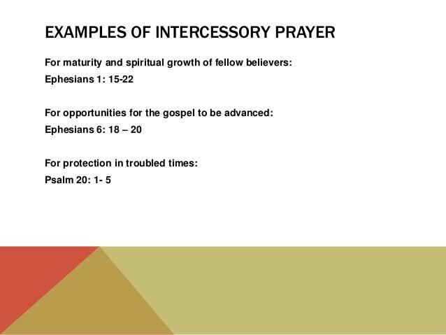 Types of prayer – part two, intercessory