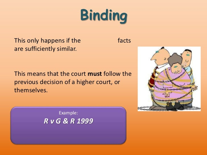 binding precedent The doctrine of binding precedent started under the ruler-ship of king henry ii, in an effort to centralize the administration of justice he sent royal commissioners.