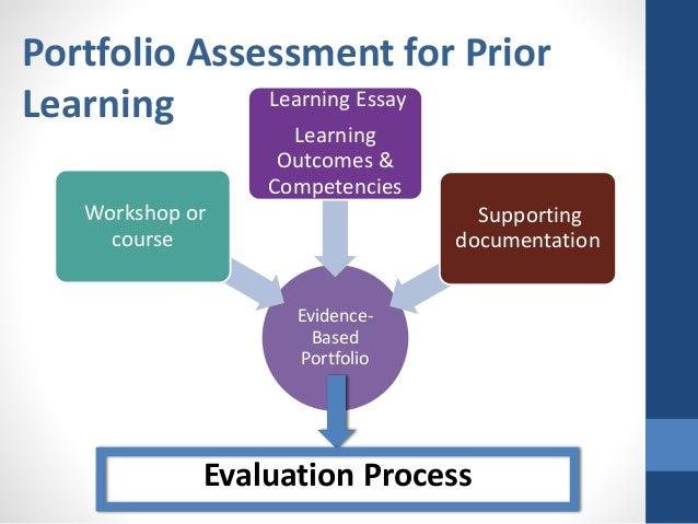 Prior learning assessment portfolio