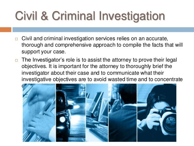 Types of private detectives and their investigations