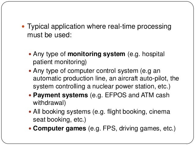 types of processing