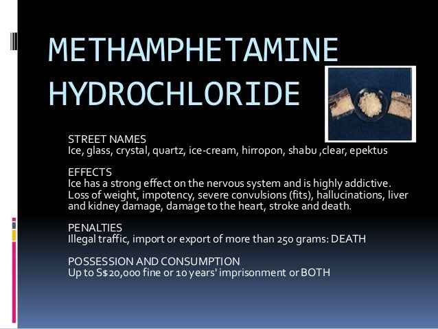 Types of prohibitted drugs