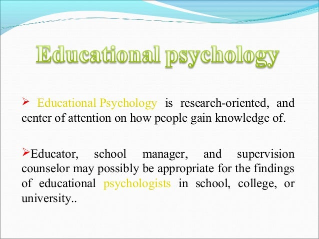 Types of psychology and its needs