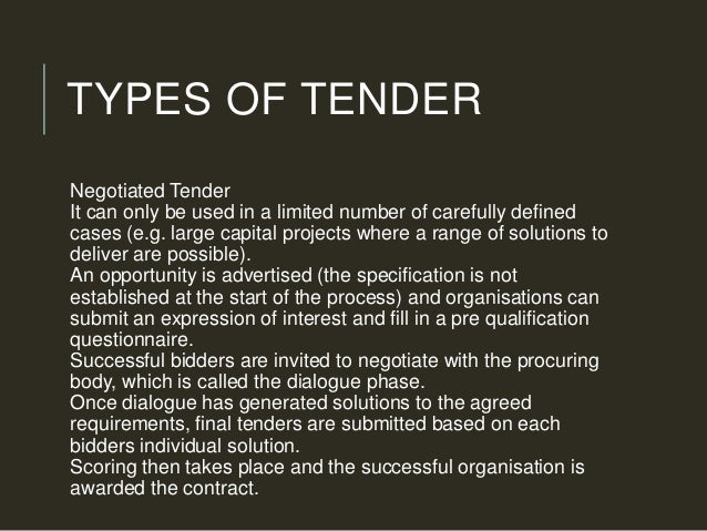 open tender meaning