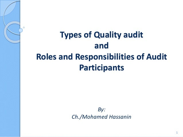 Types of quality audit