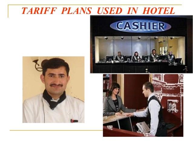 TARIFF PLANS USED IN HOTEL