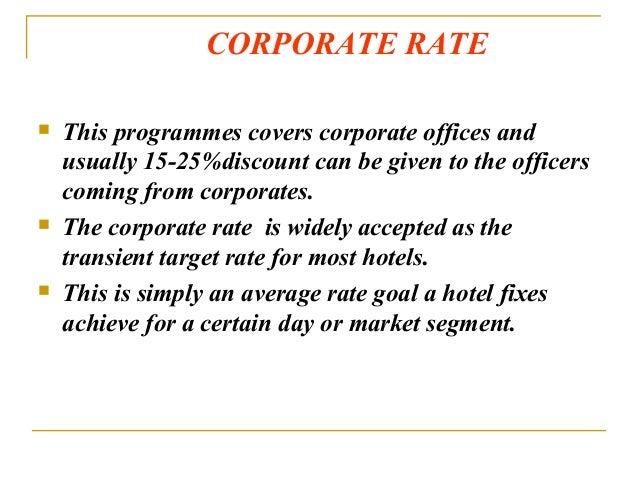 22 Corporate Rate