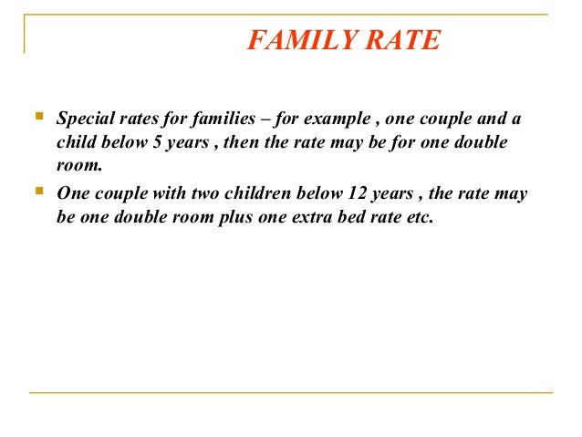 26 Family Rate