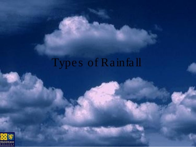 Type s of Ra infa ll