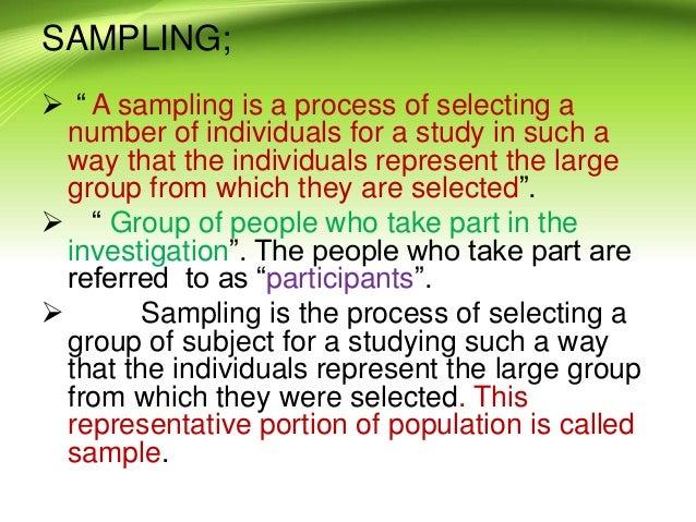 Types of random sampling