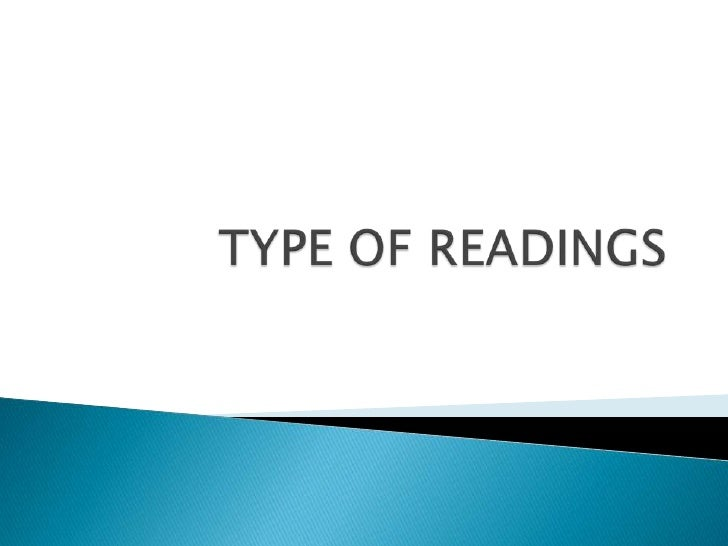    Several types of reading may occur in a    language classroom:     Oral      Silent      Intensive      a. linguistic...
