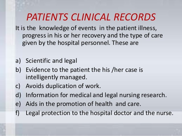 What types of medical forms do doctors keep in patient records?