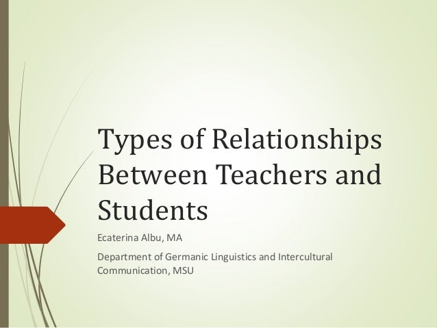 essay about teacher and student relationship mary