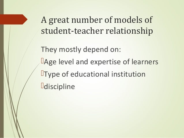 relationship between teacher and student