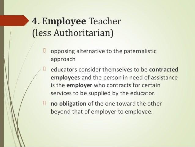 less than ideal relationship between teacher