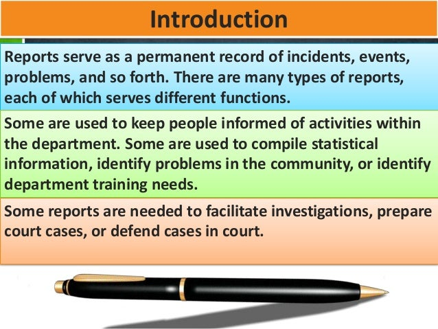 different types of reports
