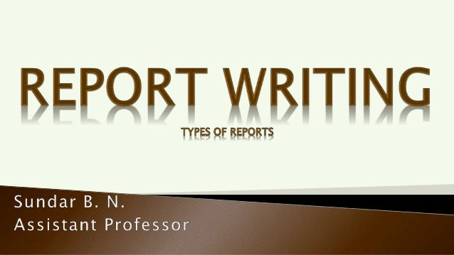Oral Report Written Report No regid standard format Standard format Presenter can be interrupted frequently for clarificat...