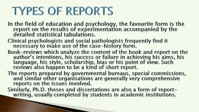 Types of Research Report Writing  Slide 3