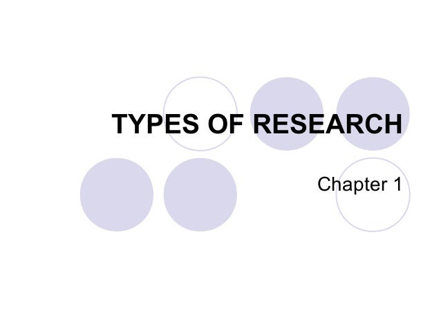 TYPES OF RESEARCHChapter 1