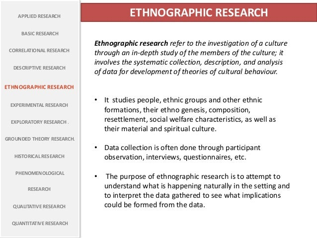 the advantages and disadvantages of the participant observation research method in anthropology Participant observation is a method of data collection used often in qualitative research, especially the field of cultural anthropology the goal is to gain detailed knowledge of people through .