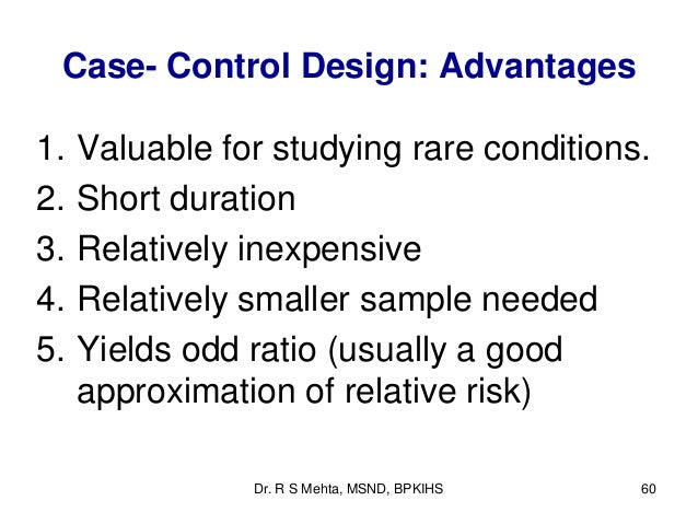 Introduction to study designs - case-control studies