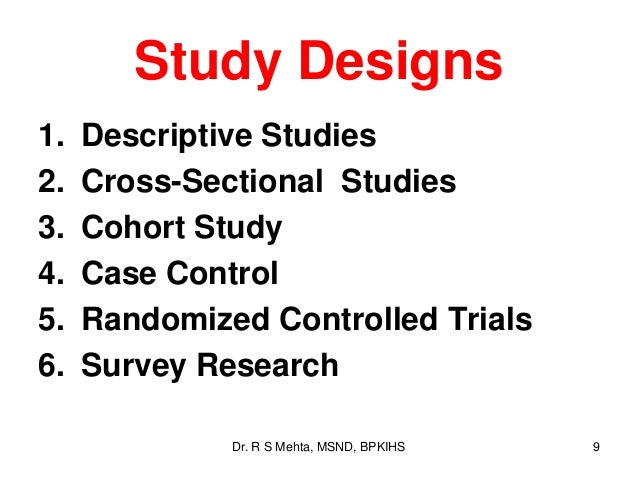 How to write a case series study design