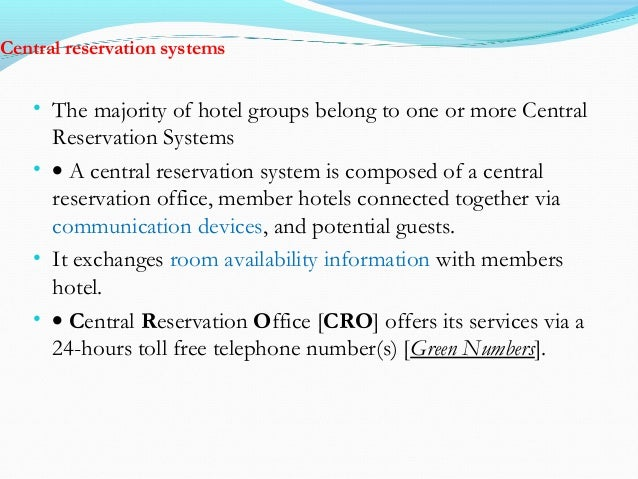 Types of reservation – Types of Office Communication