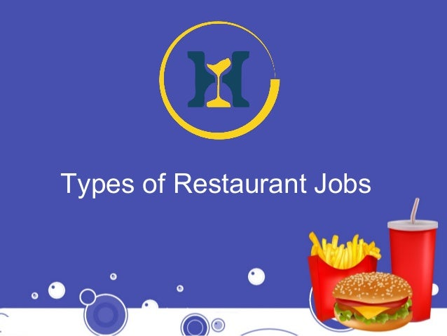Types Of Restaurant Jobs