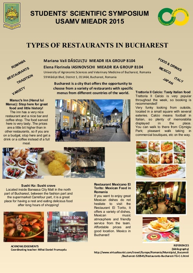 Types Of Restaurants In Bucharest