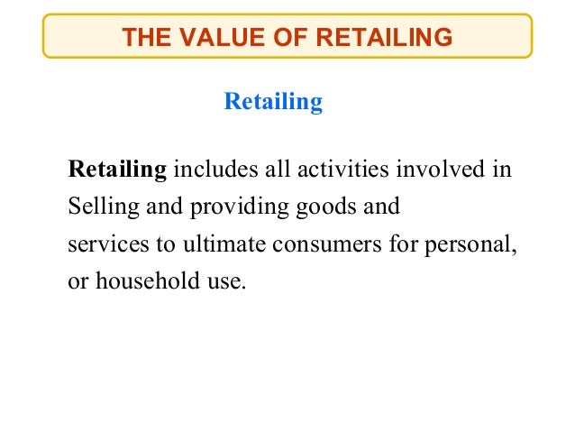 Types of retailing done Slide 2