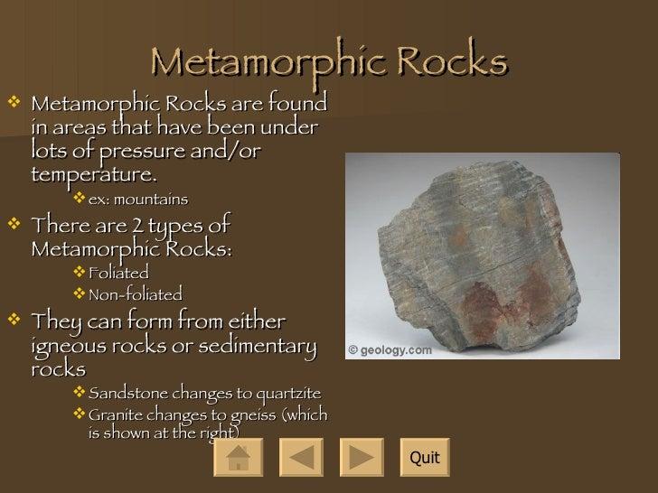 Types Of Rocks!