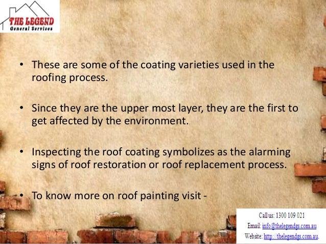 Types of roof coatings