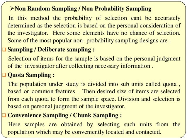 Types of sampling design