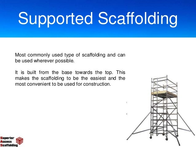 Three Types Of Scaffolding : Types of scaffolding used in construction
