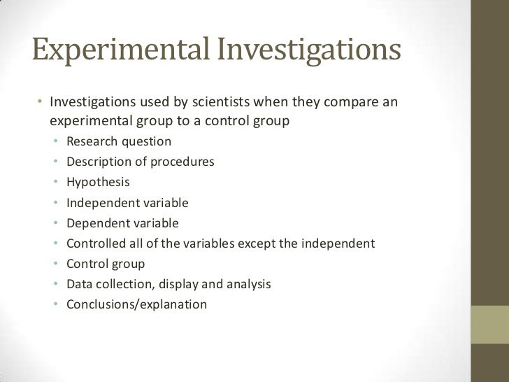 Types of science investigations – Independent Variable Vs Dependent Variable Worksheet