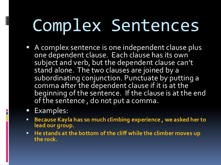 Sentences According To Structure