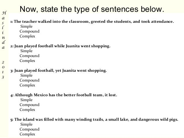 Types of sentences 8 m4hsunfo