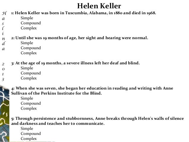All Worksheets » Helen Keller Worksheets - Childern and Parenting ...