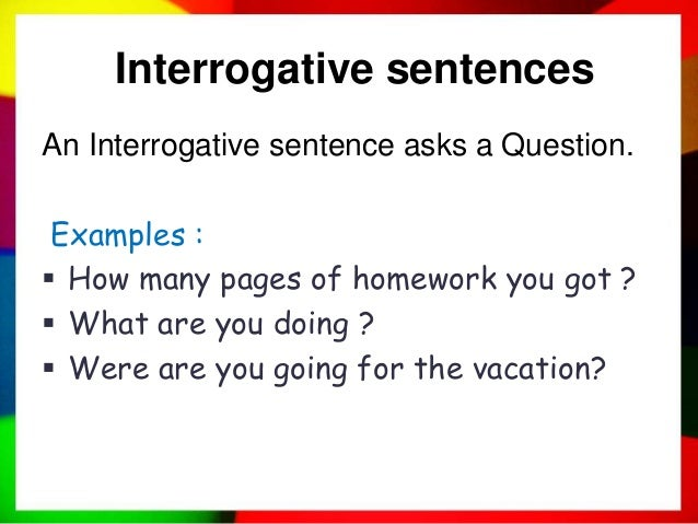 what is a interrogative sentence example