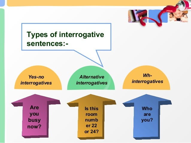 Types of sentences examples 7 yes no interrogatives ccuart Image collections