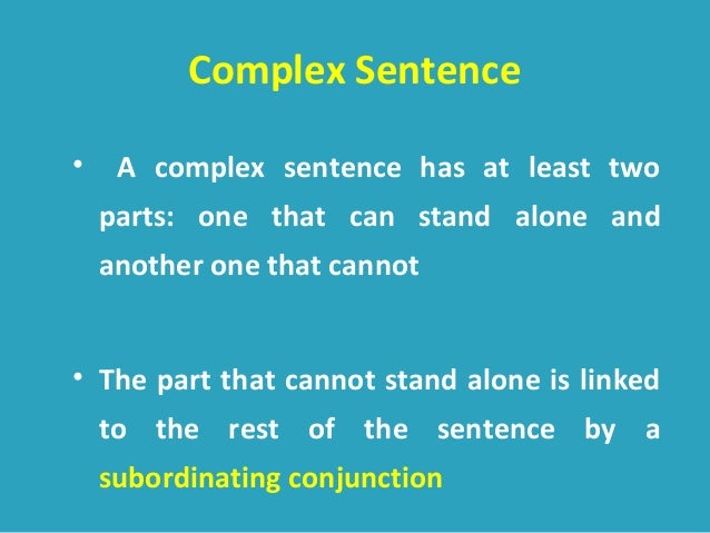 Types Of Sentence Structure 1
