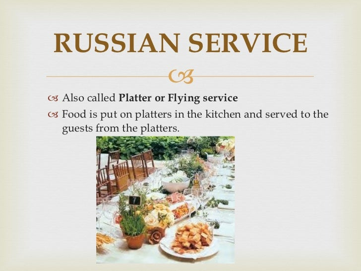 What Is French Service In Food And Beverage