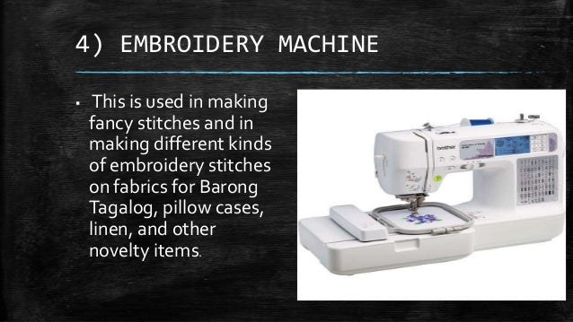 Different kinds of sewing machines with pictures