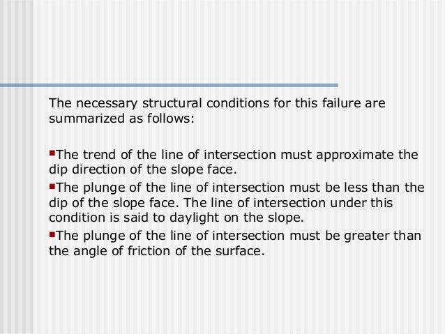 The necessary structural conditions for this failure are summarized as follows: The trend of the line of intersection mus...