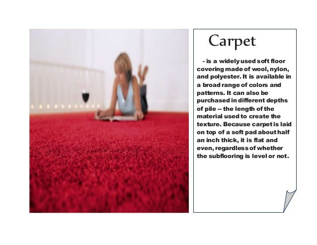 2. Carpet    Is A Widely Used Soft Floor Covering ...
