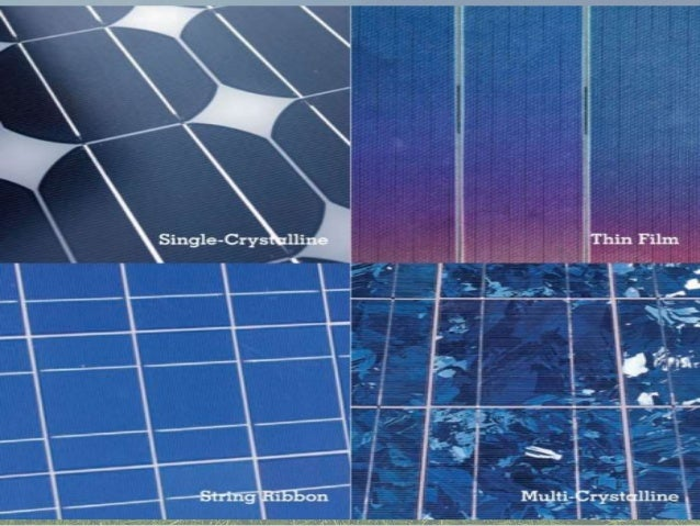 Types Of Solar Panels For The House