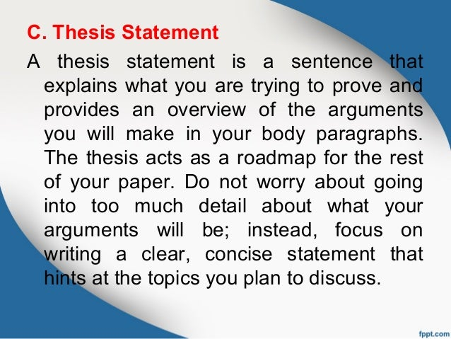 demonstration speech thesis statement Strategies for framing a thesis statement  the complete sentence outline   one type of speech about processes, the demonstration speech, teaches.
