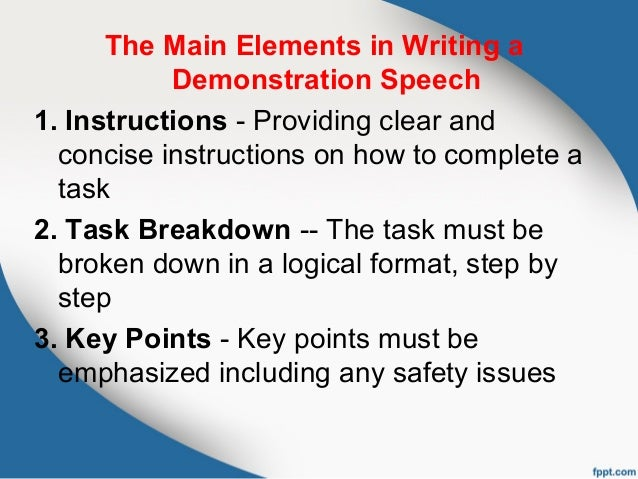 How to write a thesis statement for a demonstration speech