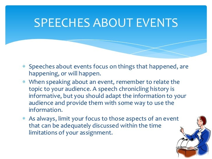 how to do informative speech