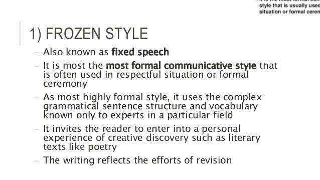 Speech writing styles